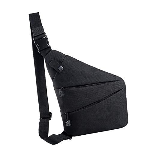 Leobtain Sling Backpack Multipurpose Water Resistant Outdoor Crossbody Shoulder Backpack Anti Theft Chest Pack Travel Bags Daypack for Men Women for Mobile Phone Travel Snap Front Denim