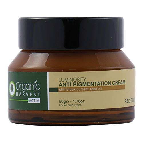 Organic Harvest Luminosity Anti Pigmentation Cream with Black Current Seed Oil, 50g (Tanning Body Wash)