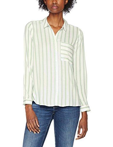 ONLY Damen Bluse Onlcandy L/S Shirt Noos WVN, Mehrfarbig (Cloud Dancer Stripes:Green Stripes), X-Large (Herstellergröße: 42)
