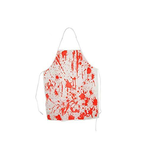 Metzger Kostüm Blutige - Ouken Horror Blut Schürze Scray Prank Kostüme Schürze Blutige Metzger-Schürze für Horror Cosplay Halloween 1 Packung