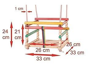 Baby Children Kids Indoor Door Bouncer Wooden Rope Swing Seat Chair Cushion