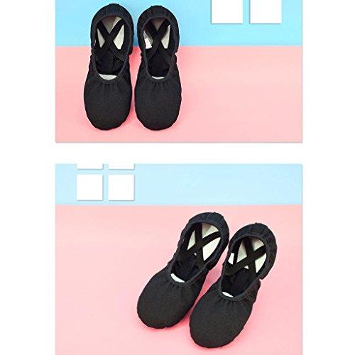 Byjia Leder Ballett Tanzschuhe Voll Sole Erwachsene Und Kinder Größen Yoga Schuhe Leinwand Elastische Katze Schoß Weichen Boden Praxis . Apricot . 29 uBOUKUdHAA