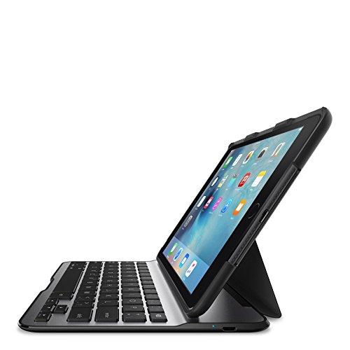 Belkin F5L191DEBLK QODE Ultimate Lite Bluetooth Tastatur mit Hülle (geeignet für iPad mini 4) schwarz