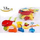 BAYBEE Funbee 7 Pieces Kids Beach Sand Toys Set