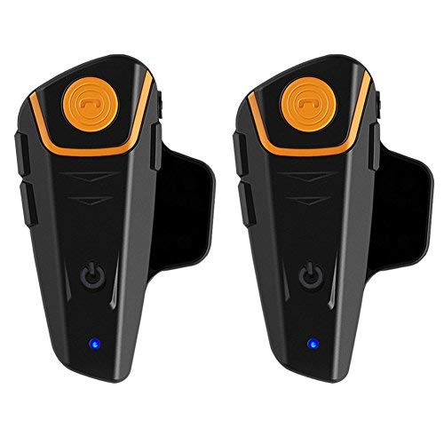Qaurora BT-S2 1000m Bluetooth Headset Wasserdichtes BT Motorrad Motorrad Helm Intercom Interphone Headset für2 oder 3 Fahrer und 2.5 mm Audio für Walkie Talkie GPS Hands Free MP3 Player FM Radio -
