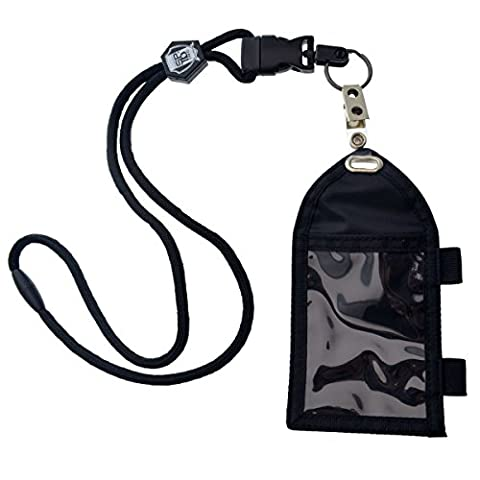 Ultimate Nylon Badge Holder with Pen Loop Key Ring and