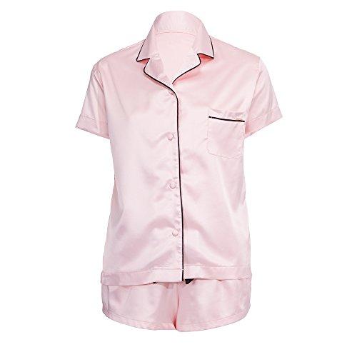 Bella Blue Damen Pyjama-Sets Abigail Pink (Pale Pink/Black)