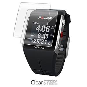 Polar V800Protector de pantalla, BoxWave® [clearsteel (2-Pack)] resistente como el acero, ligero Transparente Skin para Polar V800
