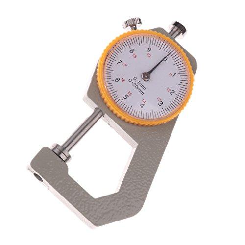 MagiDeal Dickenmesser Dicke Messwerkzeug Messuhr Messschieber Werkzeug Messgerät Tragbar 0-20mm