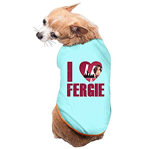 xj-cool I Love fergiy chiot T-shirt pour femme Bleu ciel
