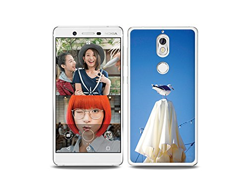 etuo Nokia 7 - Hülle Foto Case - Möwe - Handyhülle Schutzhülle Etui Case Cover Tasche für Handy