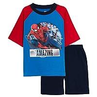 Marvel Spiderman Boys Short Pyjamas Amazing Blue/Red 4-5 Years
