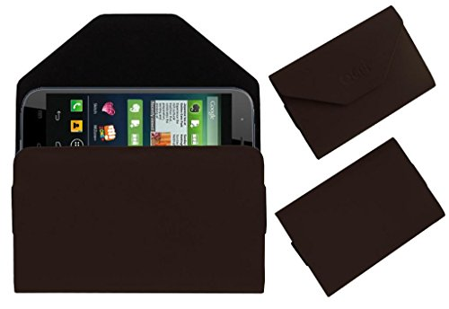Acm Premium Pouch Case For Micromax Canvas Doodle 2 A240 Flip Flap Cover Holder Brown  available at amazon for Rs.329