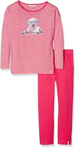 ESPRIT Bodywear Mädchen Zweiteiliger Schlafanzug 076EF7Y005, Rosa (Pink Fuchsia 660), 128 (Herstellergröße: 128/134)