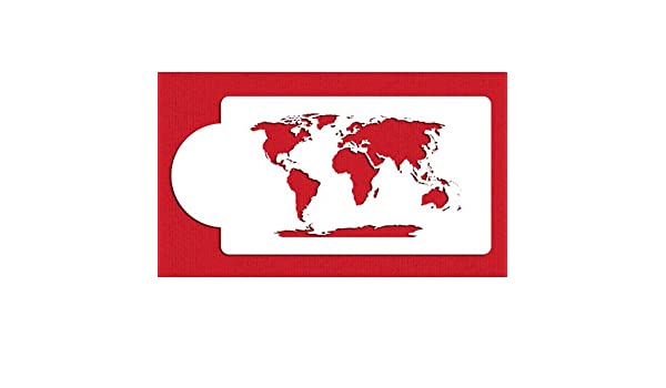 Buy world map cake stencil c977 by designer stencils online at low buy world map cake stencil c977 by designer stencils online at low prices in india amazon sciox Images