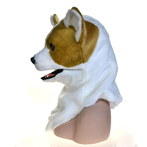 XINJIANHAO-MASKE Erwachsene Maske Für Halloween Vollen Kopf Tier Moving Mouth Cosplay Karneval Kostüm Hund Bleichen Animalmasks Zum Verkauf Fashion @ Active (Color : Yellow, Size : 25 * 25)