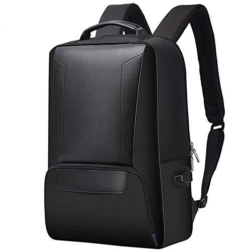 YELLOL Casual Computer Rucksack Student Bag Nylon Herren Rucksack Slim Schultertasche,Black Nylon Slim Rucksack