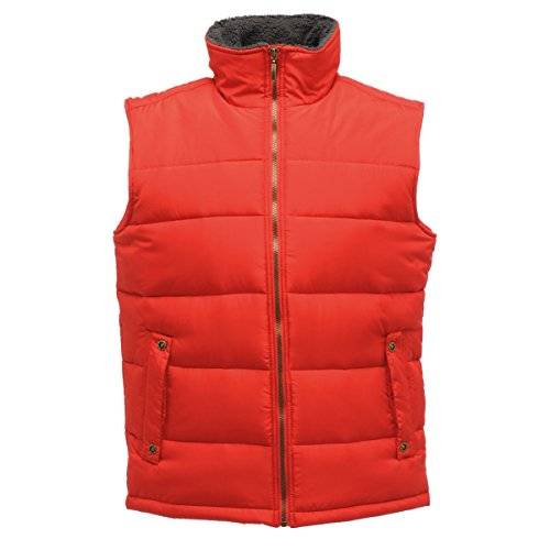 Regatta Mens Altoona Quilted Insulated Fleece Collar Gilet Bodywarmer Seal Grey