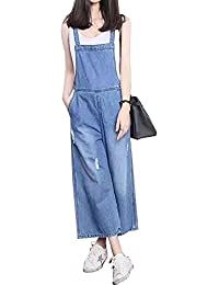 9d37c66122 Sobrisah Women Casual Denim Wash Jeans Pants Demin Overall Ladies Jumpsuit  Dungaree