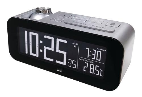Balance 862458Digital Alarm Clock Black, Silver Alarm Clock–Alarm Clocks (LCD, 220–240, Black, Silver, 90mm, 8.5cm, 225mm)