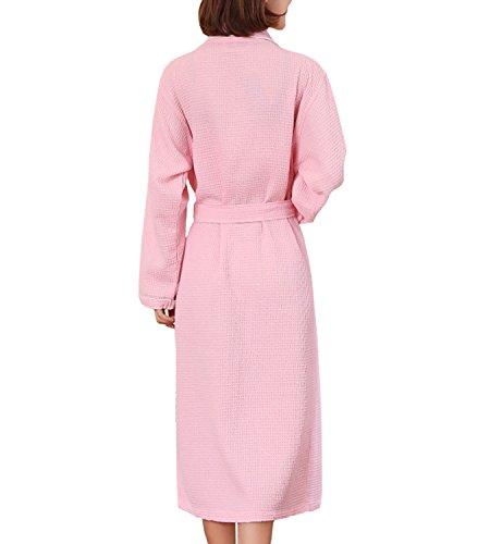 cb01f22926f0d2 365Shopping Unisex Waffel Weave Dressing Kleid Baumwolle leichte ...