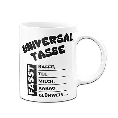 Tassenbrennerei Tasse mit Spruch Universal Tasse fasst Kaffee,Tee, Milch, Kakao, Glühwein Bürotasse Tassen mit Sprüchen (Weiss)