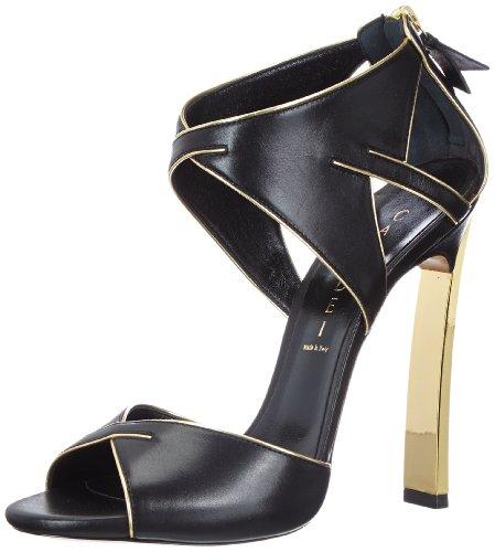 Casadei 5035N115, sandales femme Noir - Schwarz (Nero+Oro)
