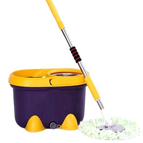 Mop benna Rotazione Il Mop Mop Dual Drive The Barrel a mano libera della famiglia Mop Mop benna ispessimento benna ( colore : Viola scuro )