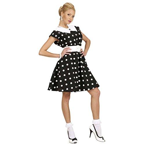 Rockabilly Damenkostüm schwarz-weiss gepunktet 50er Jahre Petticoat Kleid S 34/36 50er Mode Kleider Rockabella Kostüm Damen Rock n Roll Outfit Pin Up (50er Kostüme Schwarz Jahre Kleid)