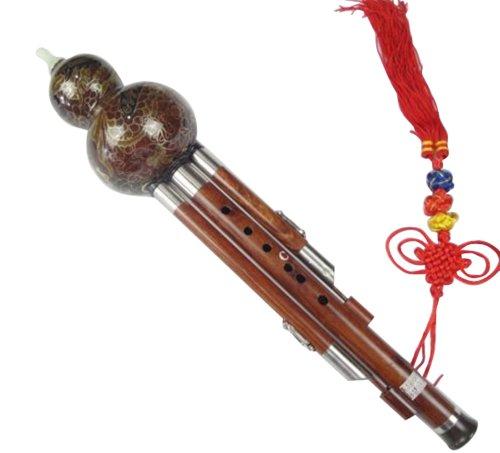 Sandelholz Cloisonne 3 Octave Gourd Flute Hulusi Woodwind + Fall #108 - Ksotenloser Versand, Weltweit