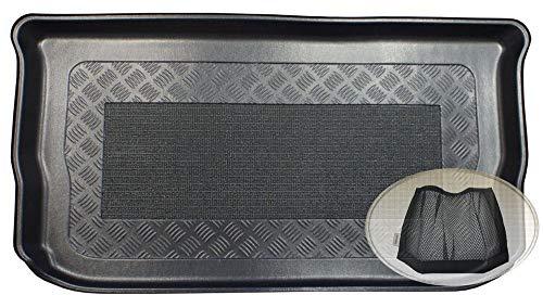 ZentimeX Z3059289 Antirutsch Kofferraumwanne fahrzeugspezifisch + Klett-Organizer (Laderaumwanne, Kofferraummatte)