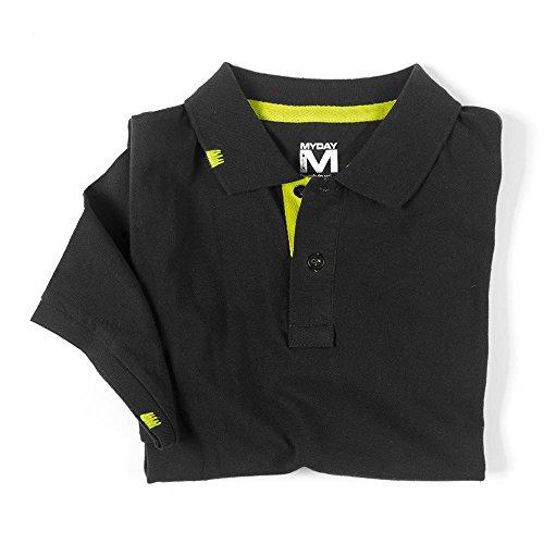 """Sportives Polo """"Rio""""/NEU/Polo-Shirt/MYDAY/trendy Schwarz"""