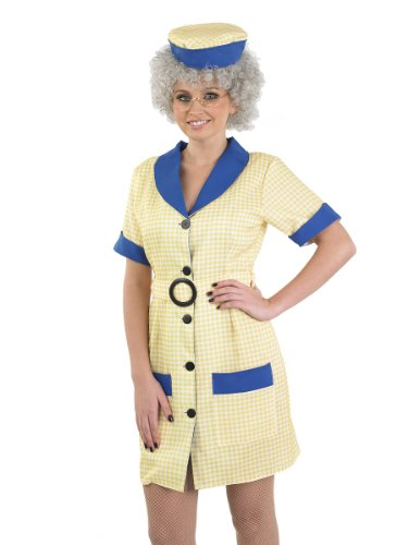 Peggy Hi De Hi Cleaner Costume for Adults