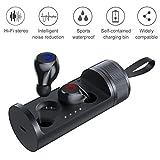 EXTSUD Auricolari Wireless Bluetooth 5.0 TWS Cuffie Sportive in Ear Senza Fili con Mic Incorporato Custodia di Ricarica 500mAh Riduzione di Rumore Mini Auricolari Smartphone per Corsa Ciclismo