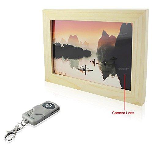 TEKMAGIC 8GB Spion Kamera Bilderrahmen Mini Viderecorder mit Sprachaufnahme Funktion und Fernbedienung Bilderrahmen Mit Spion-kamera