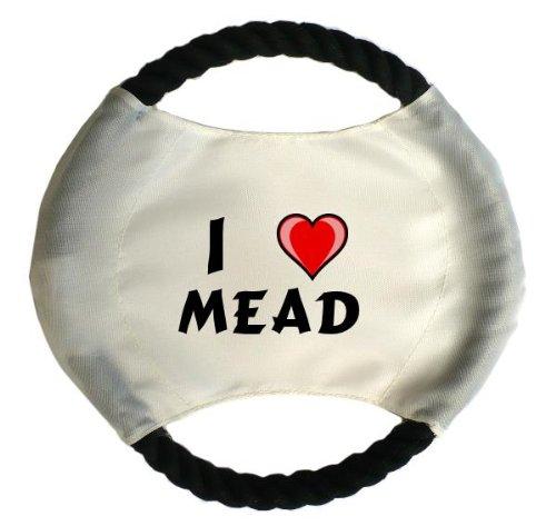 personalisierter-hundefrisbee-mit-aufschrift-ich-liebe-mead-vorname-zuname-spitzname