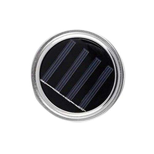 TOPmountain LED Leuchtet Schnur 1 Stück Solar Energy Flasche LED-Leuchten Lichter Schnur Flasche Dekoration Solar-Einmachglas-Dekor-Deckel Bunt (Dekor Outdoor-deck)