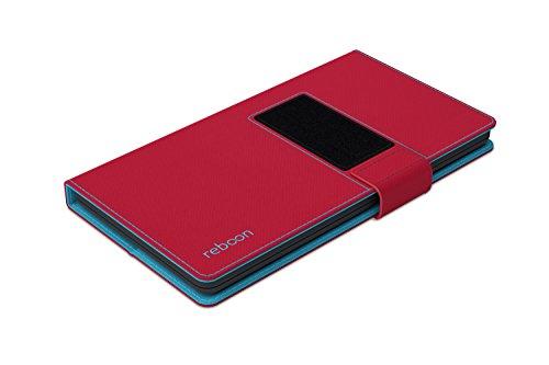 Étui pour Apple iPhone 8 Plus de couleur Cuir Noir - Boîtier innovateur 4 en 1 Coque Smart Cover Case - Support mural anti-gravité, porte-smartphone de voiture, support de table - Boîtier de protectio Rouge