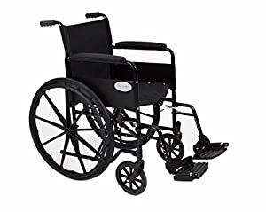 "Stylish Black Sport Self - Propelled Folding Wheelchair - 18""/20"" Seat Width (Fast Delivery!) (AMW0046BF)"