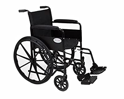 """Stylish Black Sport Self - Propelled Folding Wheelchair - 18""""/20"""" Seat Width (Fast Delivery!) (AMW0046BF)"""