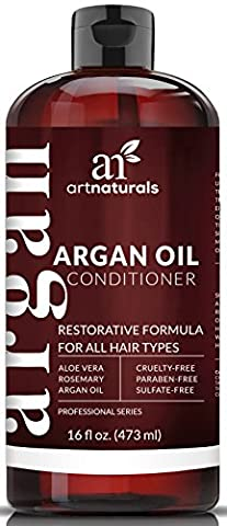 ArtNaturals Argan Oil Hair Conditioner - 473 ml - Sulfate Free - Treatment for Damaged & Dry Hair - Made with Organic Ingredients & Keratin - For All Hair Types - Safe for Color Treated Hair