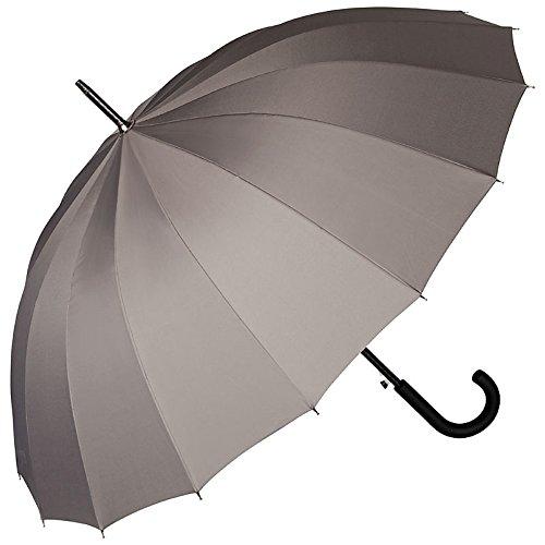 Von lilienfeld® ombrello automatico donna uomo stabile classico 16 segmentia devon grigio