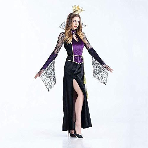 Für Damen Ghost Erwachsene Kostüm Bride - PIN Halloween Kostüme Damen Halloween Vampire Earl Cosplay Kostüm Ghost Bride Queen Stage Kostüm,XL
