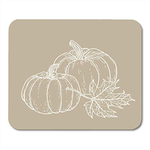 Gaming Mauspad Thanksgiving Pumpkins and Maple Leaf Fall Harvest Halloween November Day 11.8