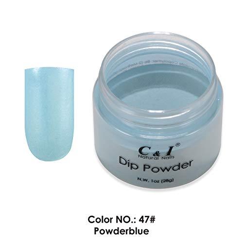 C & I Dipping Powder plongée Powder couleur N ° 047 Poudre Bleue Bleu Couleur Système