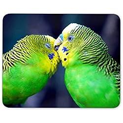 Digiclan Green Lovebirds Mousepad