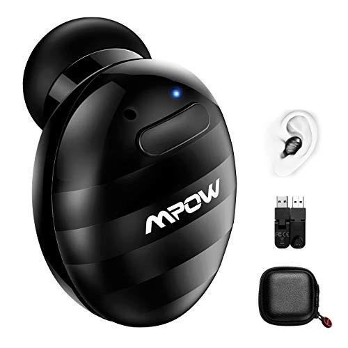 Mpow Mini Auricolare Bluetooth, Auricolare Invisibile Wireless con Vivavoce Isolamento da Rumore, Bluetooth 4.1 con USB magnetici...
