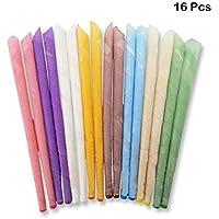 Preisvergleich für 8 Farben 100% Natürliches Bienenwachs Ohrkerzen Für Das Kerzen Von Ohren & Aromatherapie (16 Stück) Ohrenkerzen...