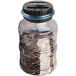Caja de ahorro de dinero Caja de recuento de monedas Caja de billetes Moneda digital contando caja de dinero Pantalla LCD Gran capacidad de regalo para niños (euros)