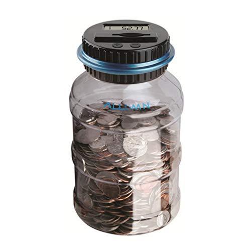 ALLOMN Geld sparen Box Münze Zählwerk Münze Bank Digitale Münze Zählen Sparbüchse LCD Display Große Kapazität Kinder Geschenk (Euro) (Dollar Und Coin Bank)